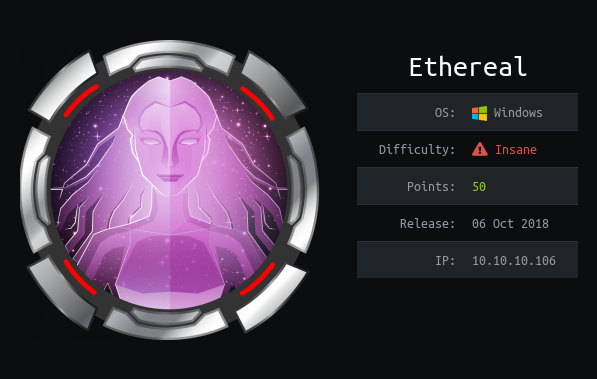 Hack The Box - Ethereal   0xRick Owned Root !