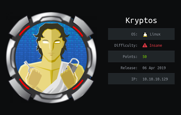 Hack The Box Kryptos 0xrick