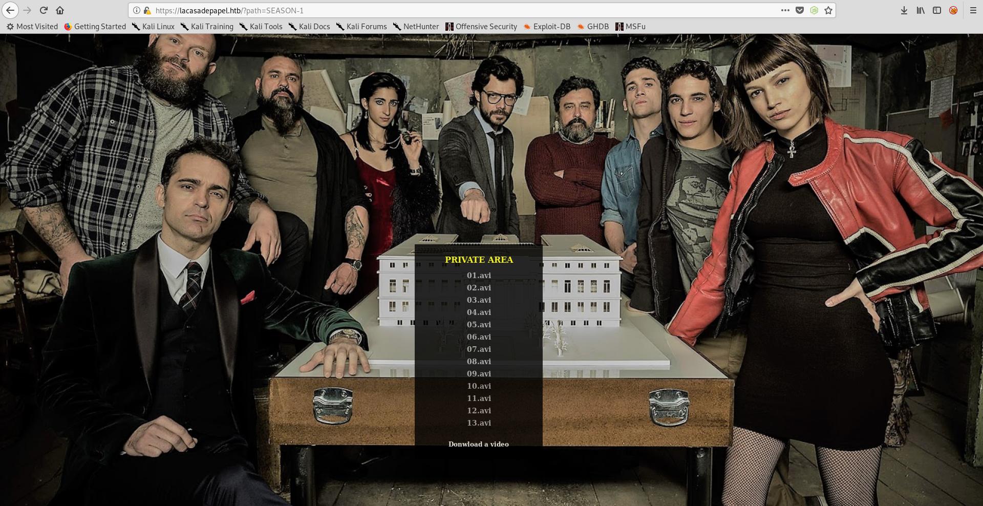 Hack The Box - LaCasaDePapel | 0xRick